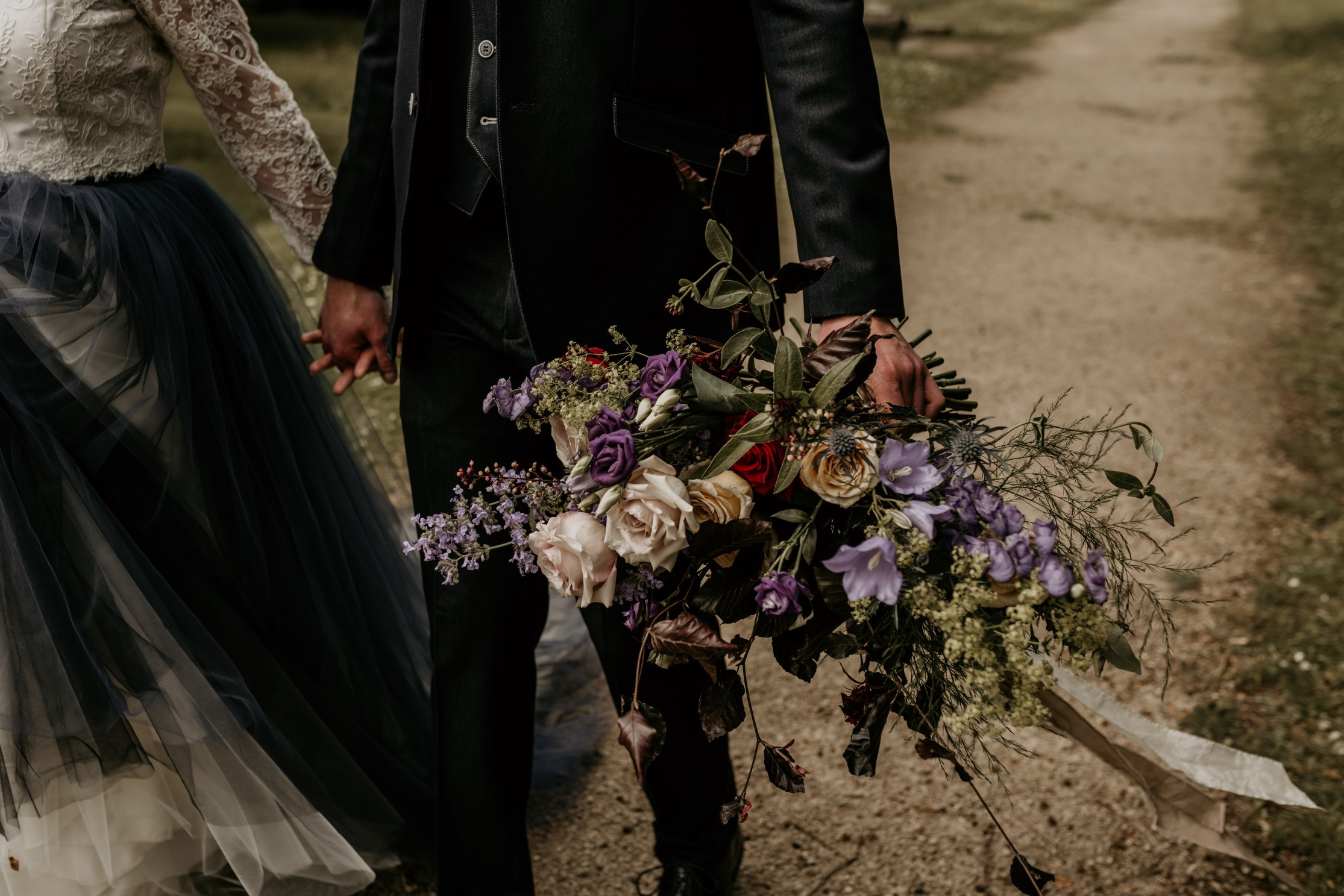 unique wedding flowers - purple and red wedding flowers - bohemian wedding flowers - unconventional wedding
