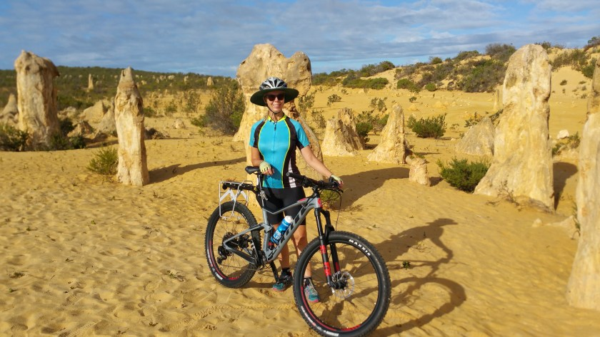 Me with my new bike Sparky on the Pinnacles Desert Loop