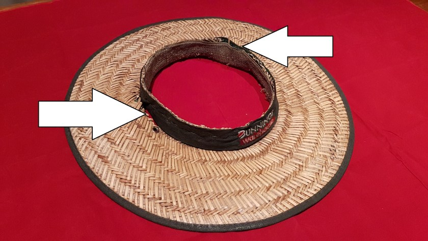 f8174bf48e220 Cycling Hat - Where to cut the slits between the band and the brim