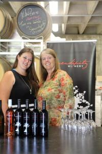 Serendipity Winery's second-in-command, Katie O' Kell and owner Judy Kingston