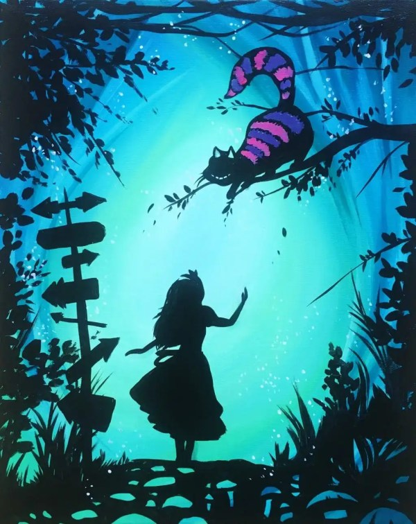 Alice In Wonderland Princess Paint - Uncorked Canvas