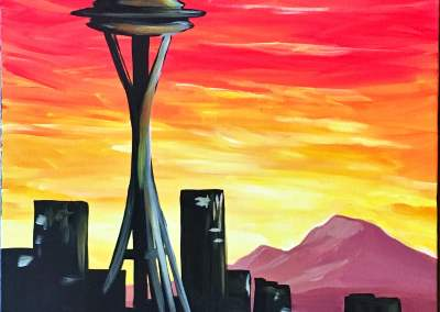 Seattle Sunset with Space Needle