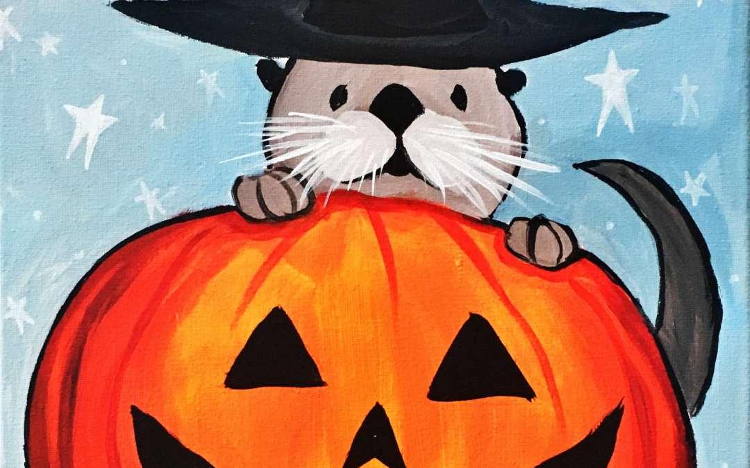Otter Halloween Pumpkin