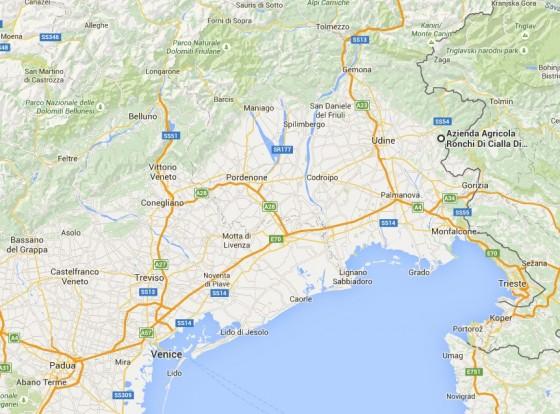 Ronchi Di Cialla Map copy