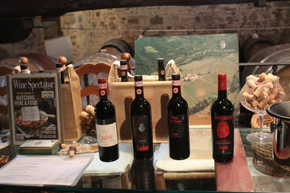 Each label of Casaloste's wine is symbolically named for family members