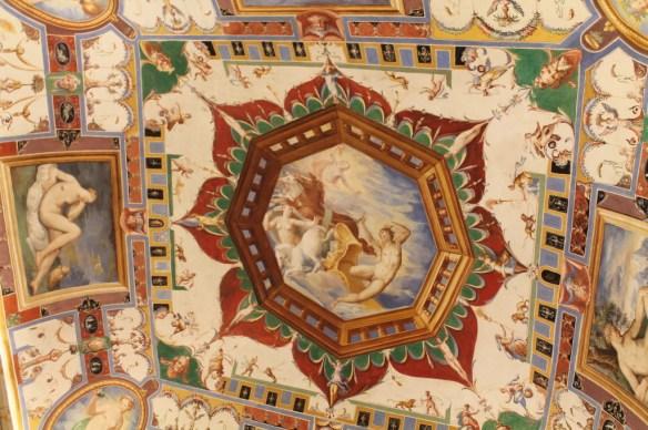 Fresci (frescoes) adorn Palazzo del Commune in Castiglione del Lago, Umbria