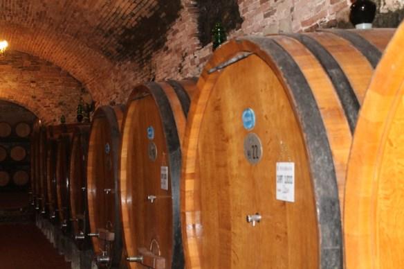 Vignamaggio's 15th century wine cellars