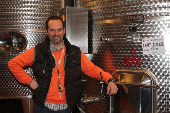 Sandro Checcucci, wine guru at Vignamaggio Vineyards