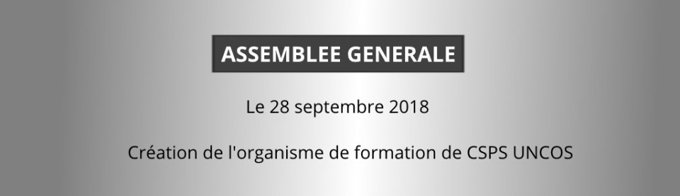 Assemblée generale creation formation