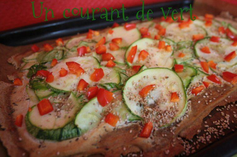 Tarte vegan courgette poivronUCV