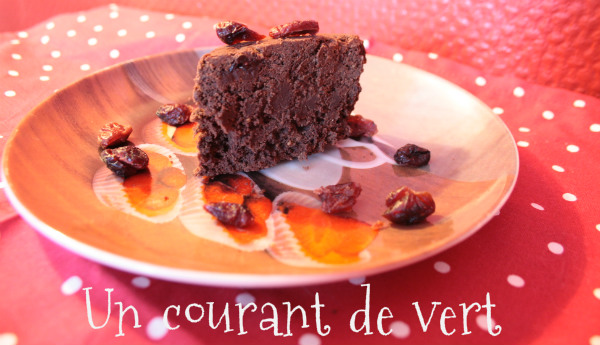 gateau vegan choco cranberries