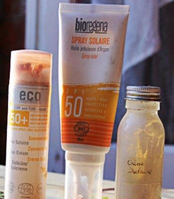 crèmes solaires véganes et bio