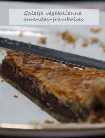galette végétalienne amandes-framboises