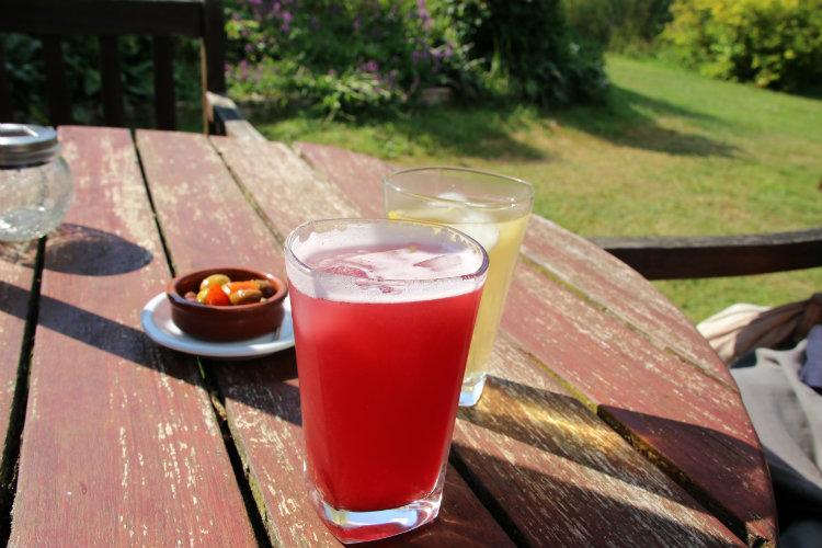 Boissons fraîches salon de thé la maison du vert
