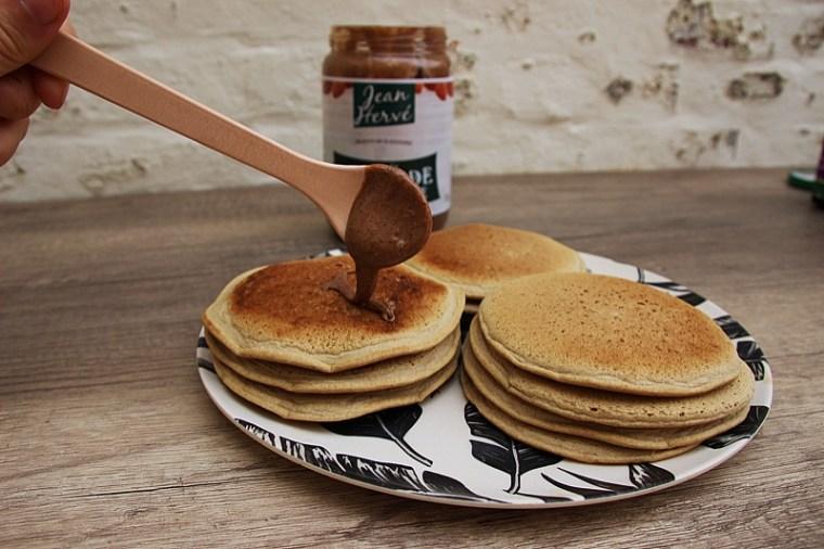 Pancakes IG bas sans gluten et végétaliens