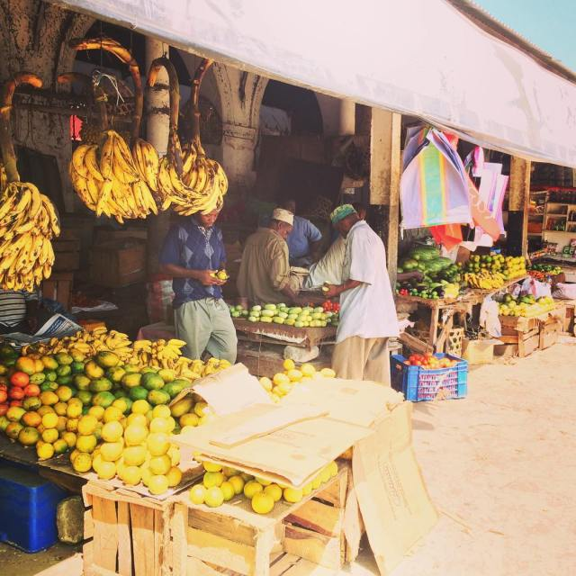 The fruit and vegetable market of Stone a Town Zanzibarhellip