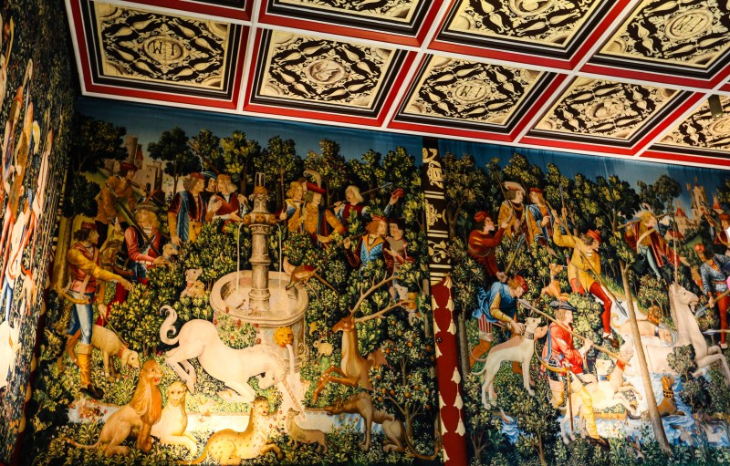 The Hunt of the Unicorn tapestry was one of James V and Mary of Guise's many tapestries.