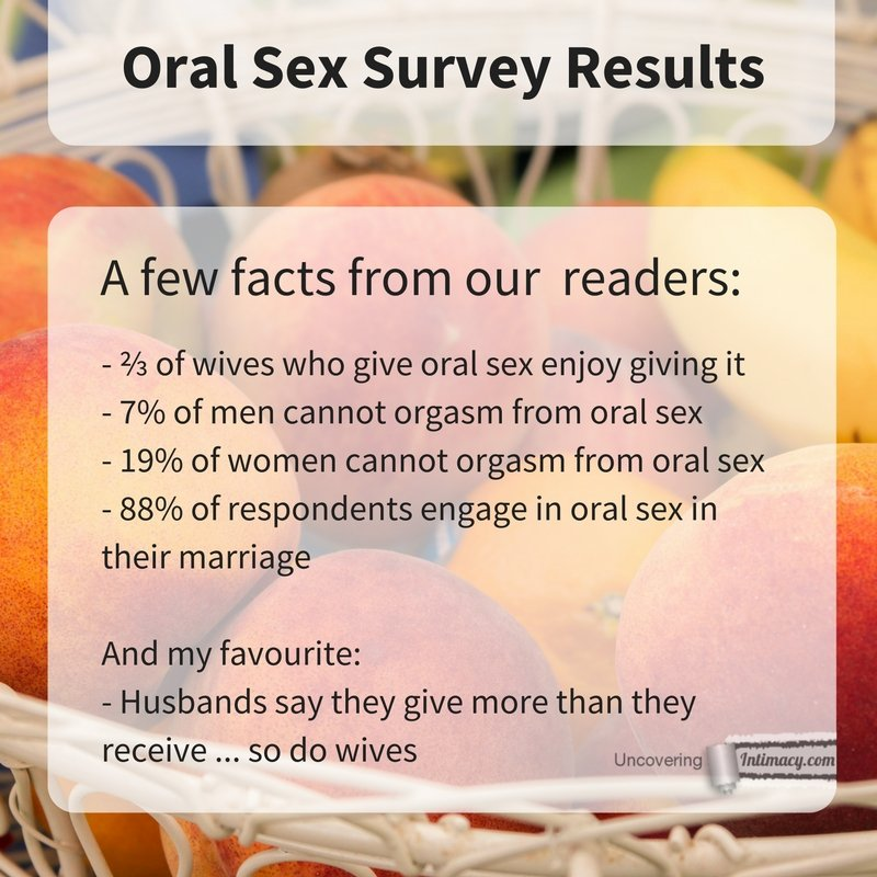 married sex survey results oral sex
