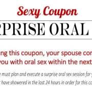 Sexy Coupon Sample - Surprise Oral Sex