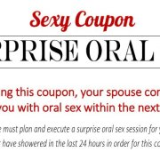 Sexy Coupon Sample - Surprise Oral Sex