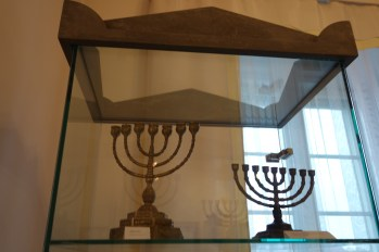 Jewish candleholders in the Kutno Museum