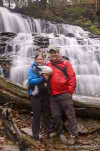 Exploring Ricketts Glen State Park with my family.