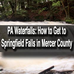 How to get to springfield falls in mercer county pa