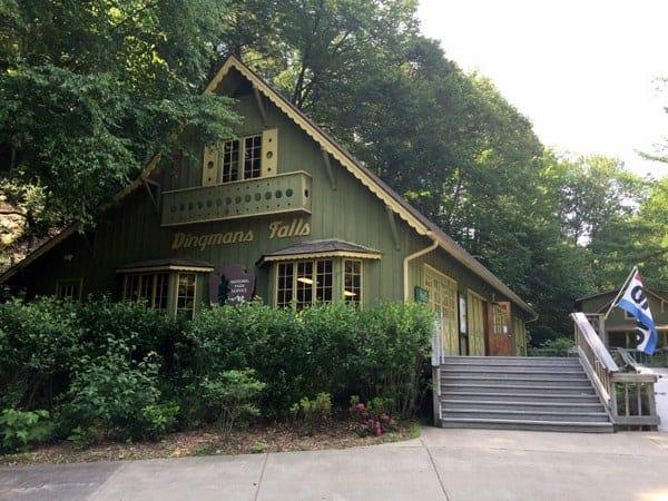Visitor Center at Dingmans Falls in the Poconos of Pennsylvania