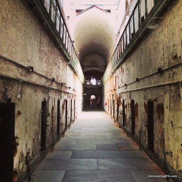 Visiting Eastern State Penitentiary in Philadelphia, Pennsylvania.