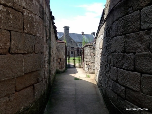 An outdoor space at Eastern State Penitentiary in downtown Philly.