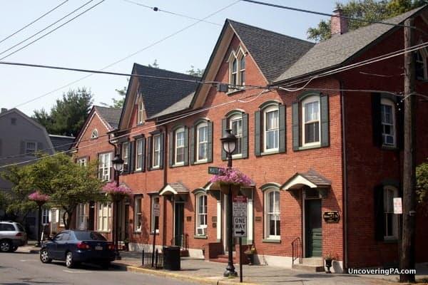 Brick houses in downtown Stroudsburg.