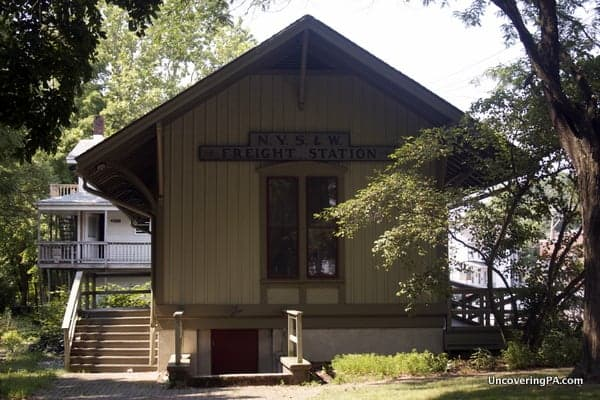 The old train station near downtown Stroudsburg.