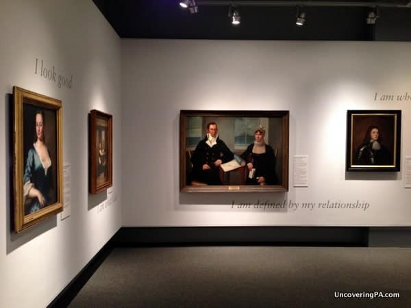 The fascinating portrait gallery at the Philadelphia History Museum.