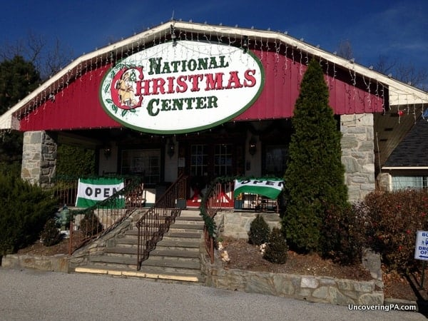 Visiting the National Christmas Center in Paradise, Pennsylvania.