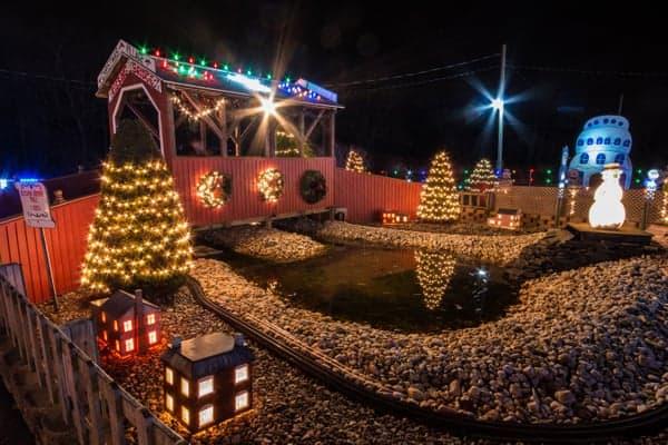 The Kissing Bridge at Koziar's Christmas Village.