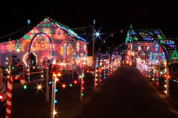 christmas lights at koziars christmas village near reading pennsylvania