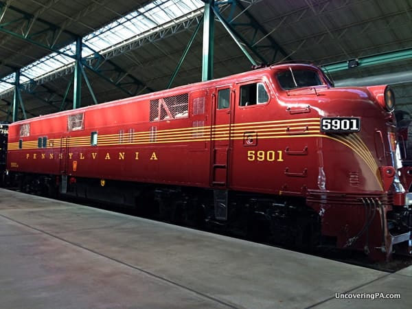 A beautifully restored train at the Railroad Museum of Pennsylvania in Strasburg, Pennsylvania.