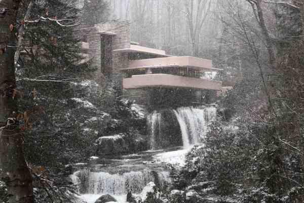Visiting Frank Lloyd's Wright's Fallingwater in Pennsylvania.