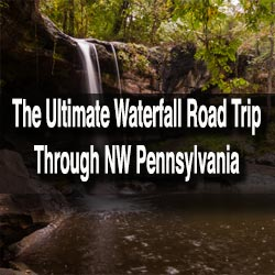 Waterfall road trip through NW PA