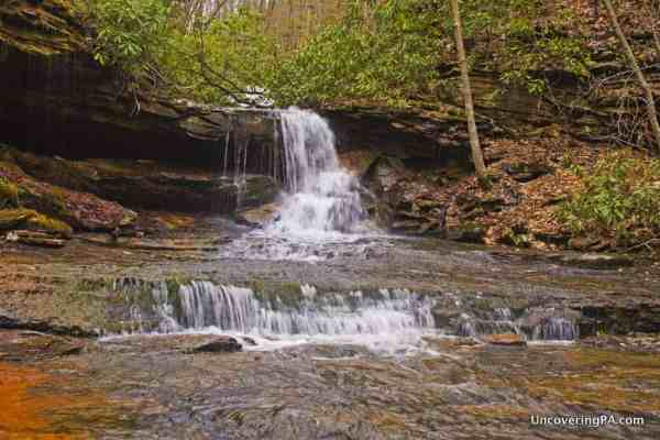 Cave Falls in Forbes State Forest