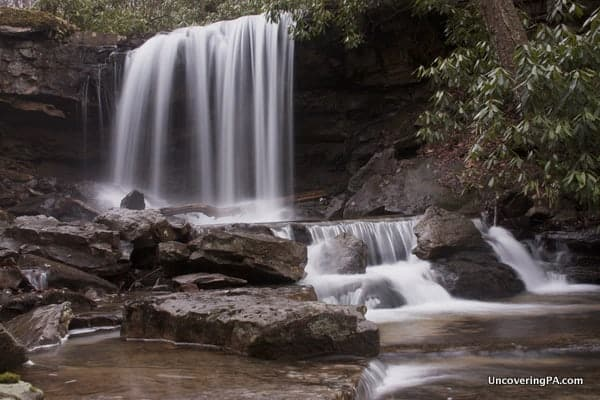 Visiting Cole Run Falls in the Laurel Highlands.