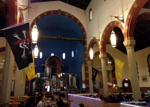The beautiful interior of Church Brew Works in Pittsburgh.