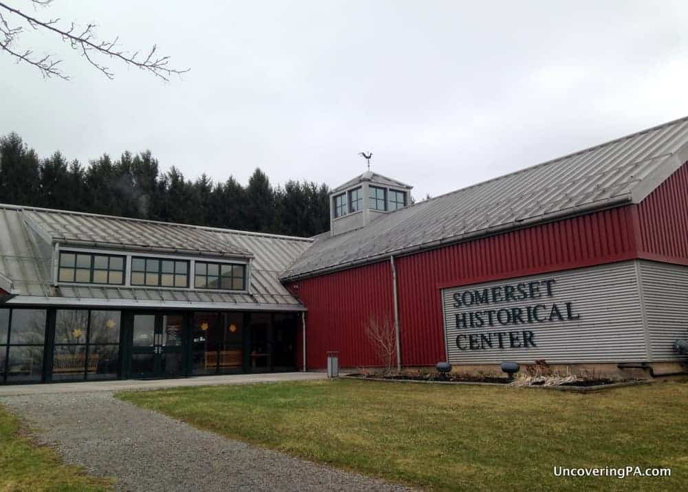 Visiting the Somerset Historical Center in the Laurel Highlands of Pennsylvania.