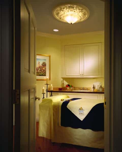 The massage room at The Spa at the Hotel Hershey.