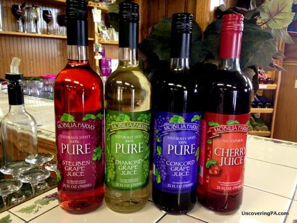 Arrowhead Wine Cellar's fantastic fruit juices.