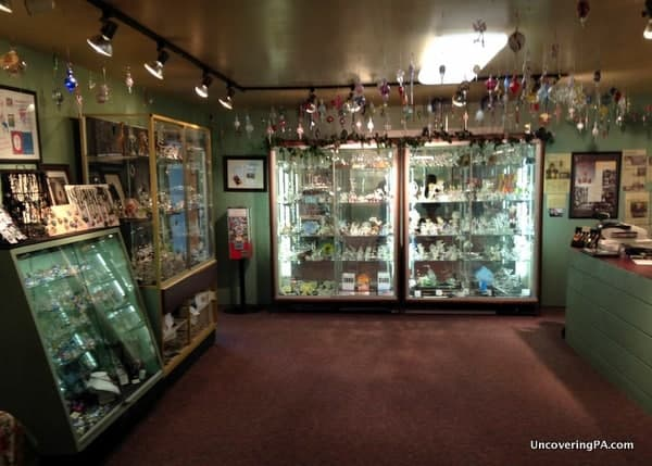 Glass blowing school and gift shop.