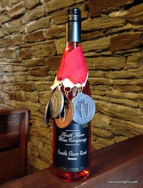 One of South Shore Wine Company's award-winning wines.