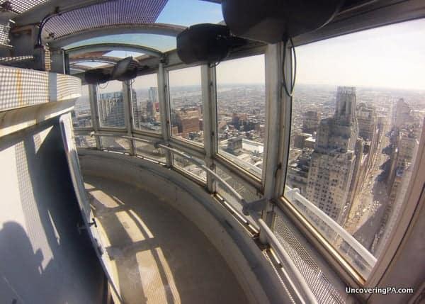 The observation deck at Philadelphia's City Hall.