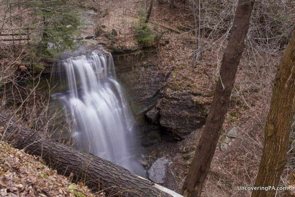 Visiting Mr. Roger's Buttermilk Falls in Indiana County, Pennsylvania.