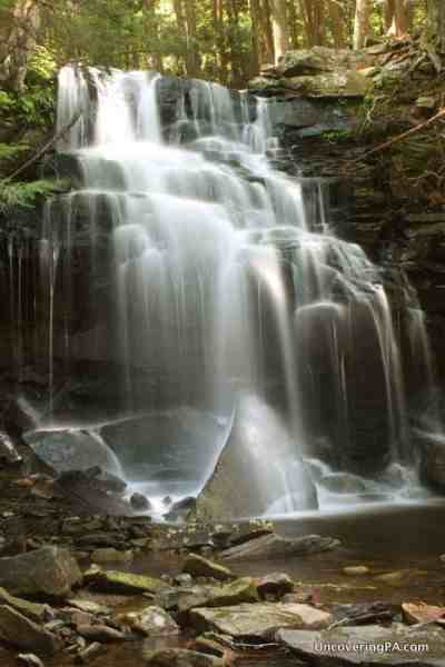 Dutchman Falls along the Loyalsock Trail, Pennsylvania.